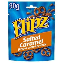 Flipz Salted Caramel Flavour Coated Pretzels 90g