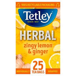 Tetley Lemon & Ginger Tea Bags x25