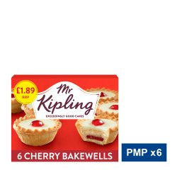 Mr Kipling 6 Cherry Bakewells