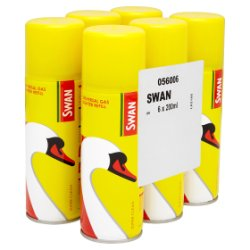 Swan Universal Gas Lighter Refill 6 x 200ml