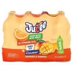 Jucee No Added Sugar Orange & Mango 8 x 1.5 Ltr