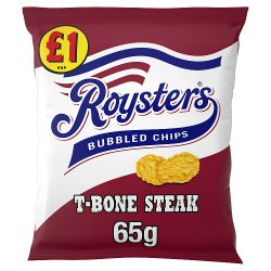 Roysters Bubbled Chips T-Bone Steak Flavour 65g