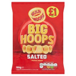 Hula Hoops Big Hoops Salted Potato Rings 80g