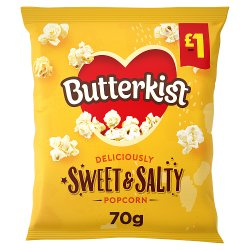 Butterkist Delicious Sweet & Salted Popcorn 70g, £1PMP