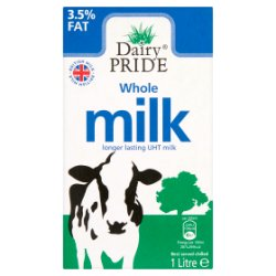 Dairy Pride Whole Milk Longer Lasting UHT Milk 1 Litre