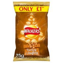 Walkers Turkey & Stuffing Crisps PMP 75g