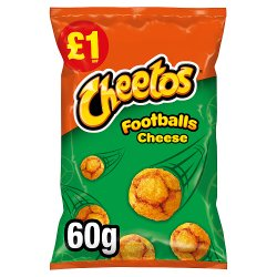 Cheetos Footballs Cheese Snacks £1 RRP PMP 60g