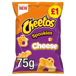Cheetos Spookies Cheese Sharing Snacks 75g £1 RRP PMP