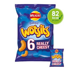 Walkers Wotsits Really Cheesy Snacks 6x16.5g