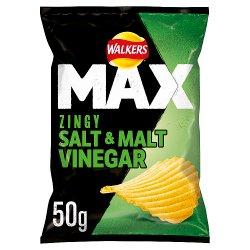 Walkers Max Salt & Vinegar Crisps 50g