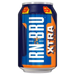 IRN-BRU Xtra No Sugar 330ml Can, PMP 69p