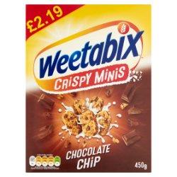 Weetabix Crispy Minis Chocolate Chip 450g Pricemarked £2.19