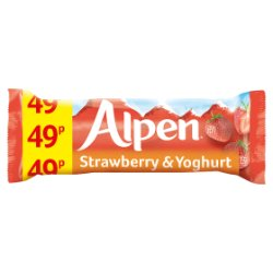 Alpen Cereal Bars Strawberry and Yoghurt 24 x 29g PMP 49p