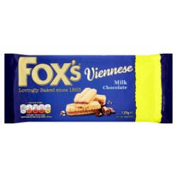 Fox's Viennese Milk Chocolate 120g
