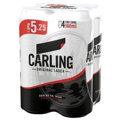 Carling Pint 4/GBP5.25 6X4X568ml