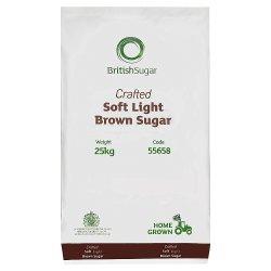 British Sugar Crafted Soft Light Brown Sugar 25kg