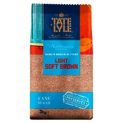 Tate & Lyle Mediterranean Inspired Medium Bodied Buttery Light Soft Brown Cane Sugar 3kg