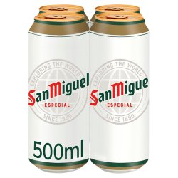 San Miguel Lager 4 x 500ml