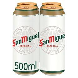 San Miguel Premium Especial Original Lager Beer 4 x 500ml