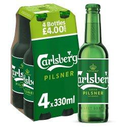 Carlsberg Danish Pilsner 4 x 330ml Bottles PMP £4.00