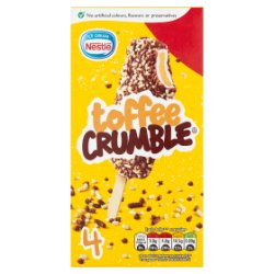 Nestlé Ice Cream Toffee Crumble 4 x 60ml