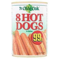 Ye Olde Oak 8 Hot Dogs in Brine 400g