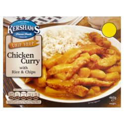 Kershaws Chip Shop Chicken Curry with Rice & Chips 460g