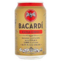 Bacardi Cuba Libre Rum Mixed Drink 330ml