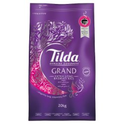 Tilda Grand Extra Long Basmati Rice 20kg