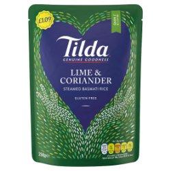 Tilda Lime & Coriander Steamed Basmati Rice 250g