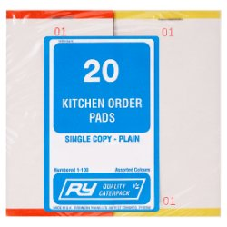 RY Quality Caterpack 20 Kitchen Order Pads