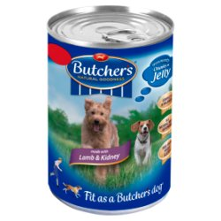 Butcher's Lamb & Kidney Chunks in Jelly Dog Food Tin 400g