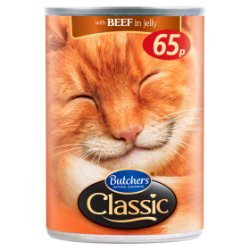Butcher's Classic Beef Chunks in Jelly Cat Food Tin 400g