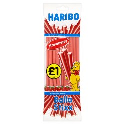 HARIBO Strawberry Balla Stixx Bag 140g