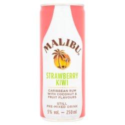 Malibu Rum & Strawberry Kiwi Mixed Drink 250ml