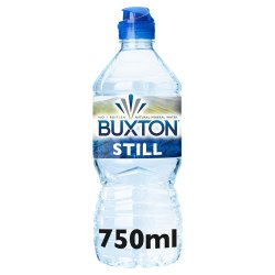 Buxton Natural Mineral Still Water 75 cl Sports Cap Single PET