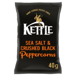KETTLE® Chips Sea Salt & Crushed Black Peppercorns 40g