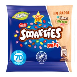 Smarties Mini Milk Chocolate Sweets Bag 15g
