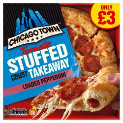 Chicago Town Takeaway Medium Stuffed Pepperoni Pizza PMP 490g