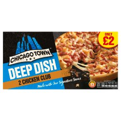 Chicago Town Deep Dish Chicken Club Pizzas 2 x 160g (320g)
