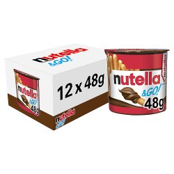 Nutella & Go! Hazelnut Spread with Cocoa and Breadsticks Single 48g