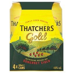 Thatchers Gold Cider 4 x 500ml PMP