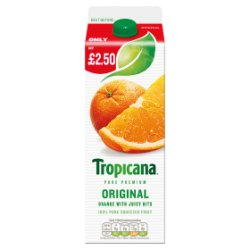 Tropicana Orange Juice Original PMP £2