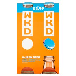 WKD Iron Brew Alcoholic Ready to Drink Multipack 4 x 275ml PMP