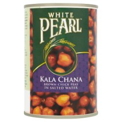 White Pearl Kala Chana Brown Chick Peas in Salted Water 400g