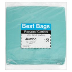 Best Bags 100 Jumbo Recycled Carriers