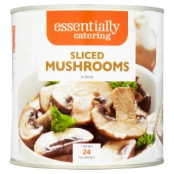 Essentially Catering Sliced Mushrooms in Brine 2.5kg