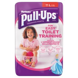 Huggies Pull Ups Day Time Potty Training Pants Girls Size Large, 14 Pants