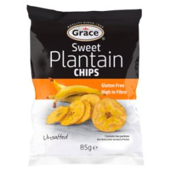 Grace Sweet Plantain Chips Unsalted 85g