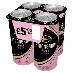 Strongbow Rose Cider 4 x 440ml Can